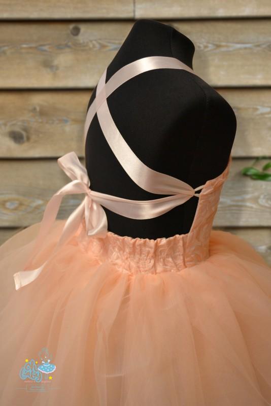 fdf4d01caf1b3d3 Пышное персиковое платье - Пошив детского платья на заказ   Oh Baby ...